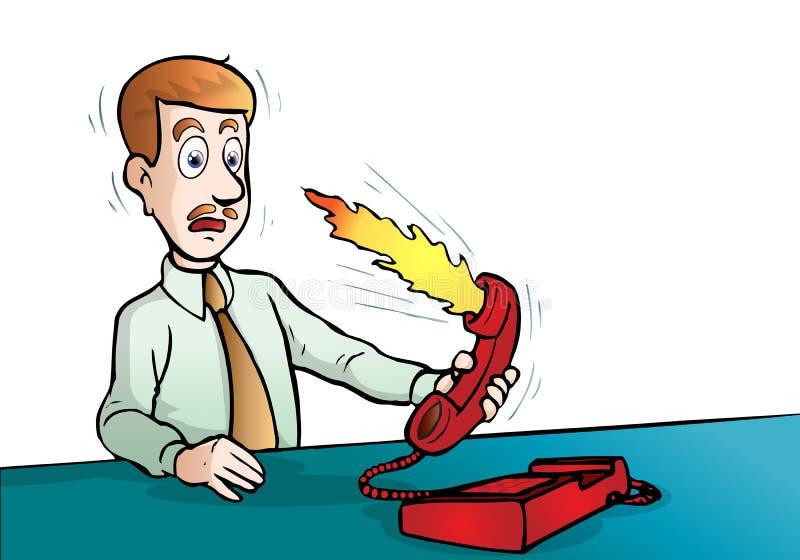 O empregador começ scold ilustração do vetor