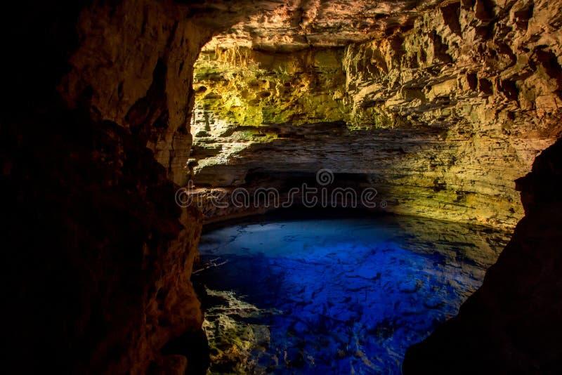 O Encanted Well-Poço Encantado em Bahia Brazil fotografia de stock