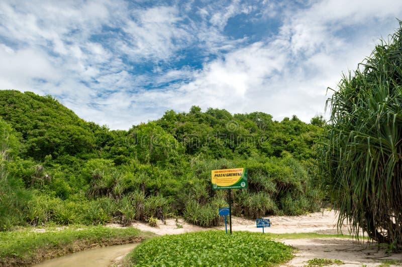 O encanto natural da praia de Greweng imagens de stock royalty free