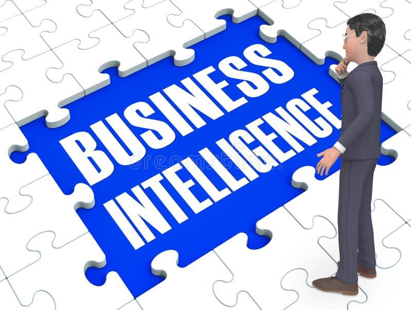 O enigma da inteligência empresarial mostra a rendição das oportunidades 3d ilustração do vetor