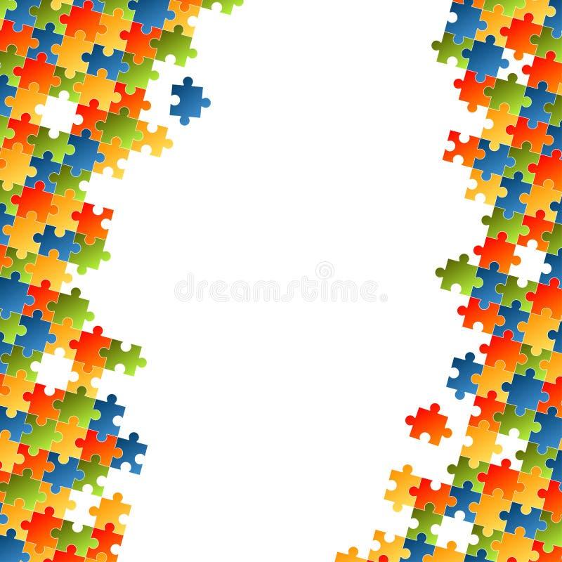 O enigma remenda o fundo colorido ilustração do vetor