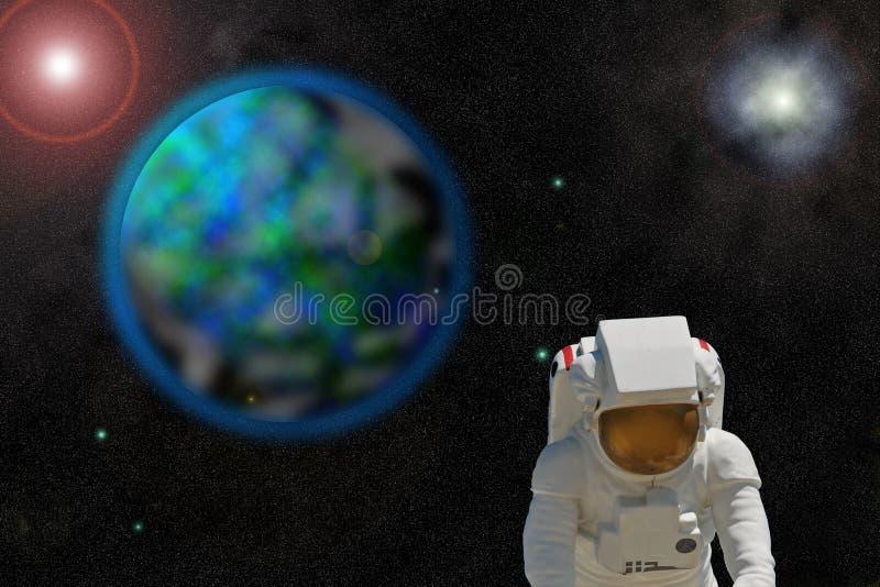 O enploration do espaço rende foto de stock