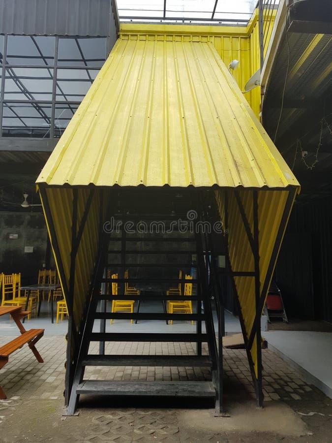 O enterance amarelo fotografia de stock royalty free