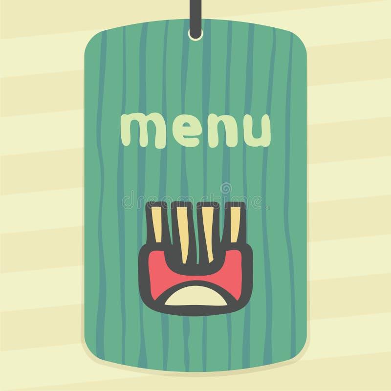 O envoltório do esboço do vetor com batata fritada cola o ícone Logotipo moderno e pictograma ilustração royalty free