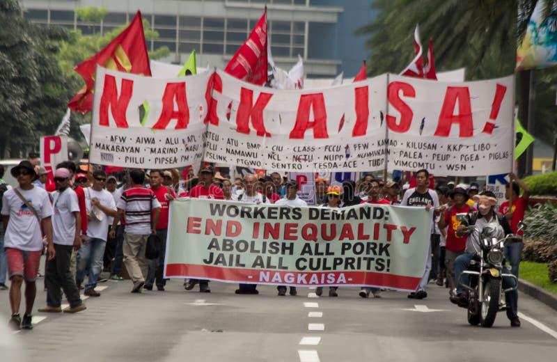 O enxerto e a corrução protestam em Manila, Filipinas fotos de stock royalty free