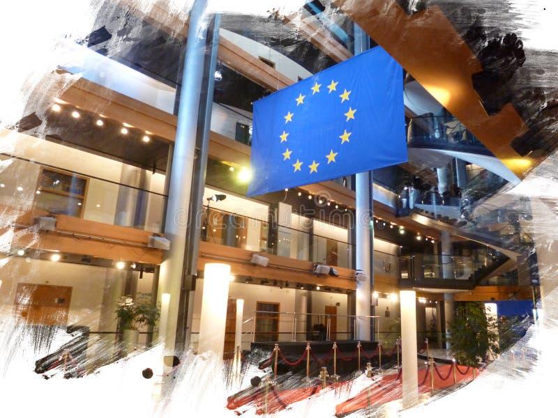 O EP do Parlamento Europeu fotos de stock royalty free