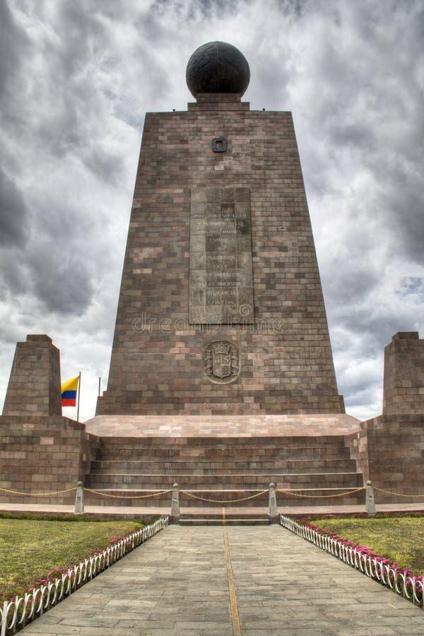 O equador em Mitad del Mundo imagem de stock royalty free