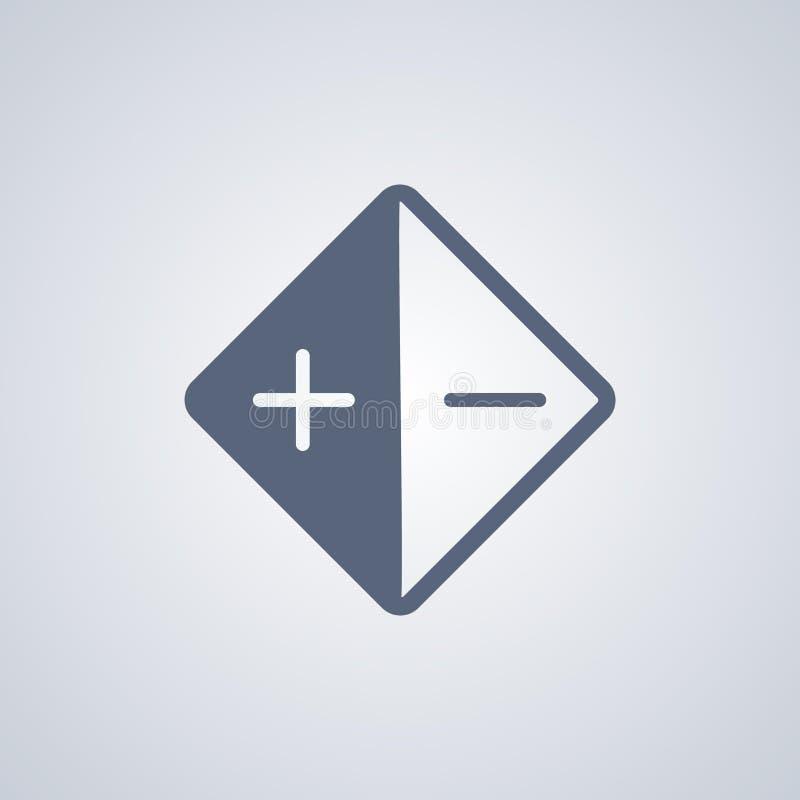 O equilíbrio, o brilho e o contraste brancos, vector o melhor ícone liso ilustração stock