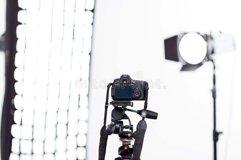 O equipamento de Photoshooting está pronto para ser usado foto de stock