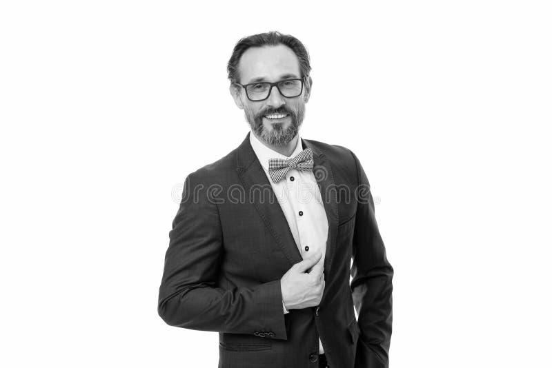 O equipamento elegante do homem de neg?cios ou do anfitri?o isolou branco Moderno farpado do homem para vestir o equipamento cl?s imagem de stock