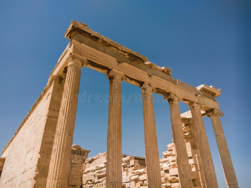 O Erechtheion ou o Erechtheum são um templo do grego clássico fotografia de stock royalty free