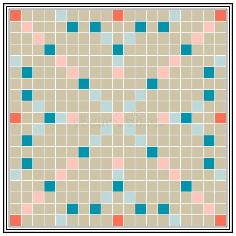 O erudição do jogo de mesa, níveis de instrução, embarca o Scrabble o mais grande ilustração stock