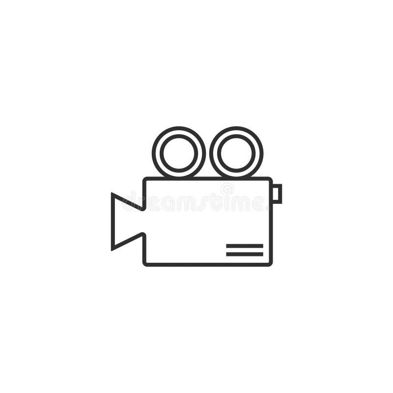 O esboço do ícone da câmera do filme de filme isolou 12 ilustração do vetor