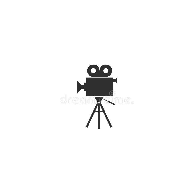 O esboço do ícone da câmera do filme de filme isolou 6 ilustração stock
