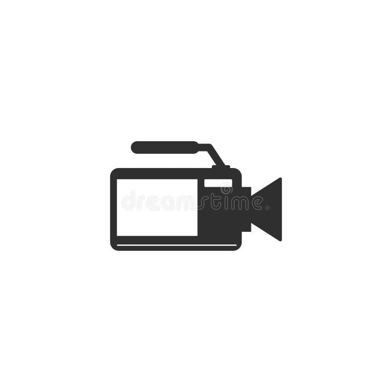 O esboço do ícone da câmera do filme de filme isolou 10 ilustração stock