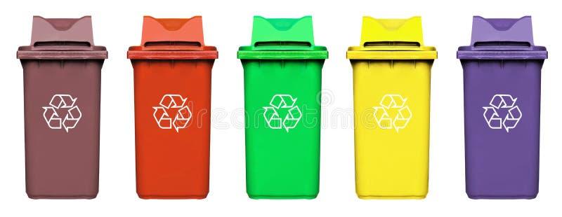 O escaninho com recicl o logotipo imagem de stock royalty free