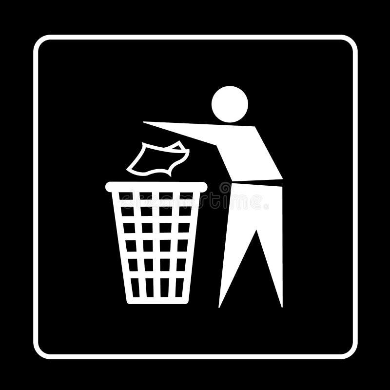 O escaninho de lixo ou o ícone do balde do lixo grande para alguns usam-se Vetor eps10 foto de stock