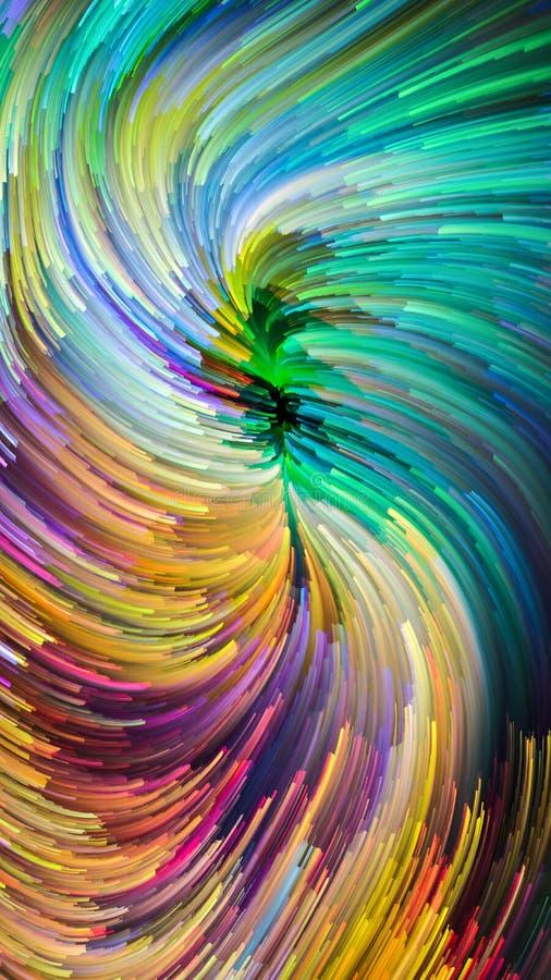 O escape da pintura colorida ilustração royalty free