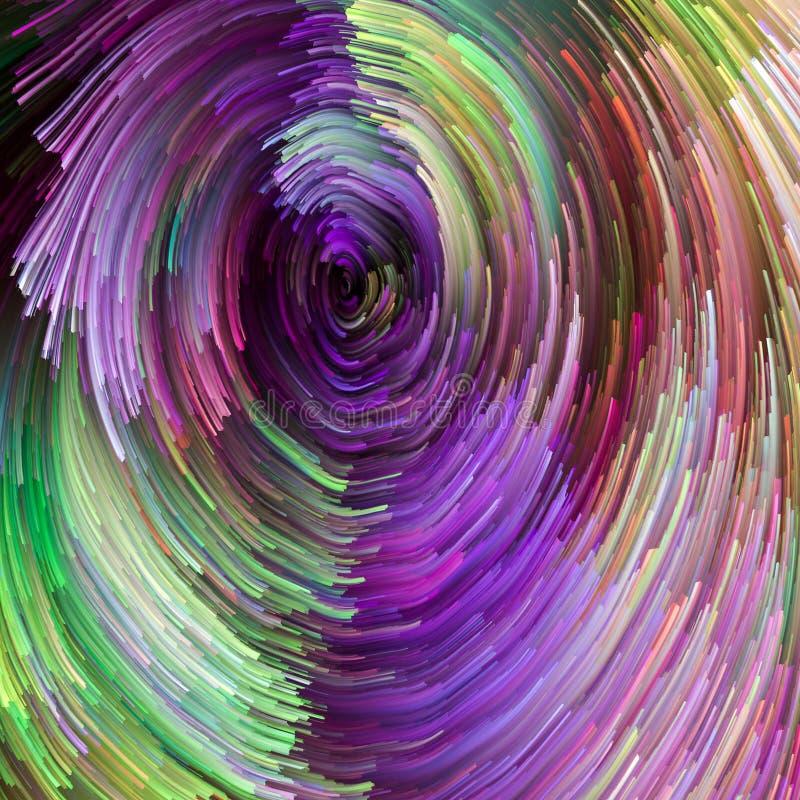 O escape da pintura colorida ilustração stock