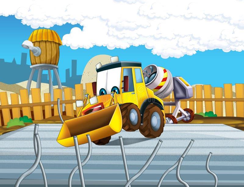O escavador dos desenhos animados - ilustração para as crianças ilustração stock