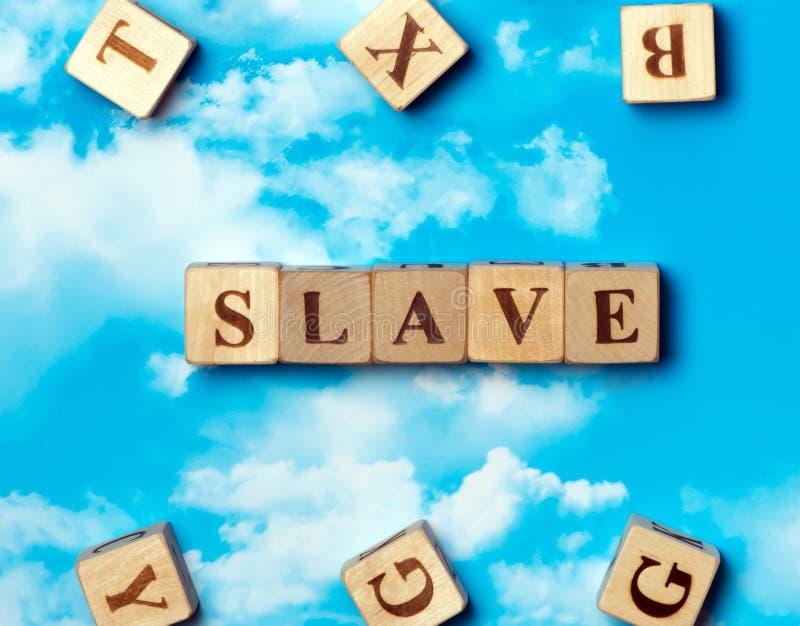 O escravo da palavra imagens de stock