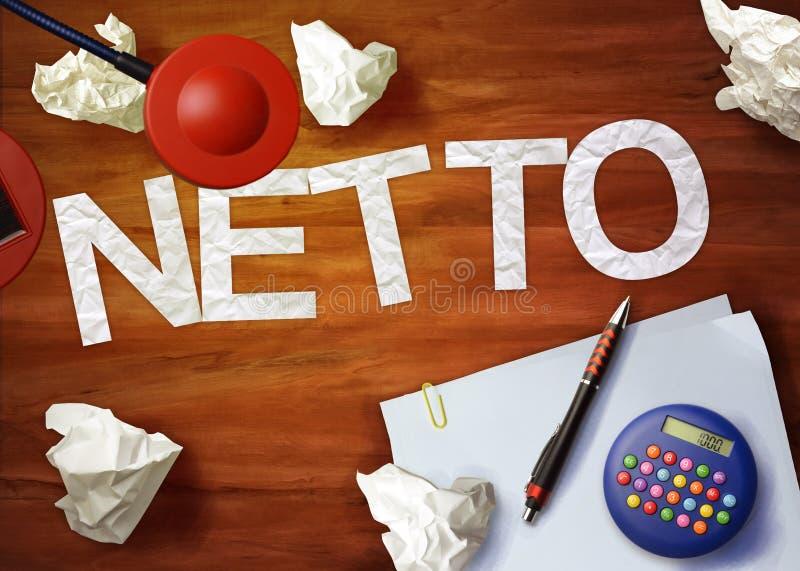 O escritório da calculadora do memorando do desktop de Netto pensa organiza imagens de stock