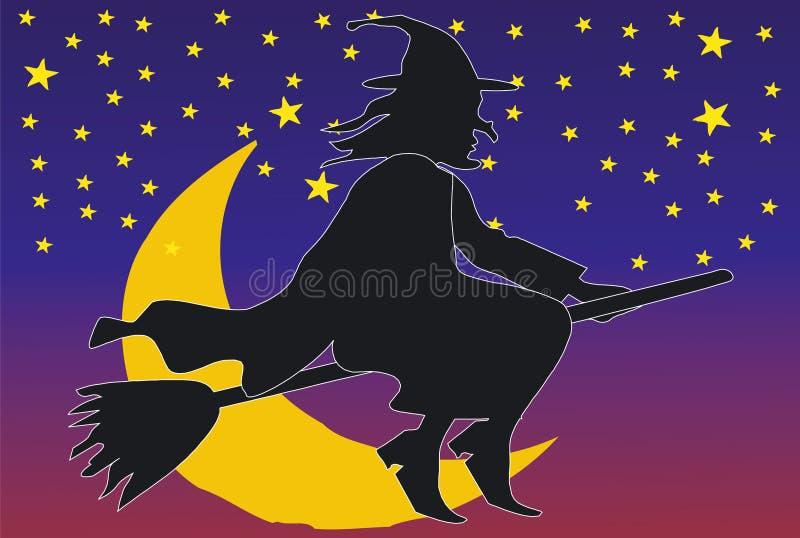 O esmagamento vem na noite ilustração stock