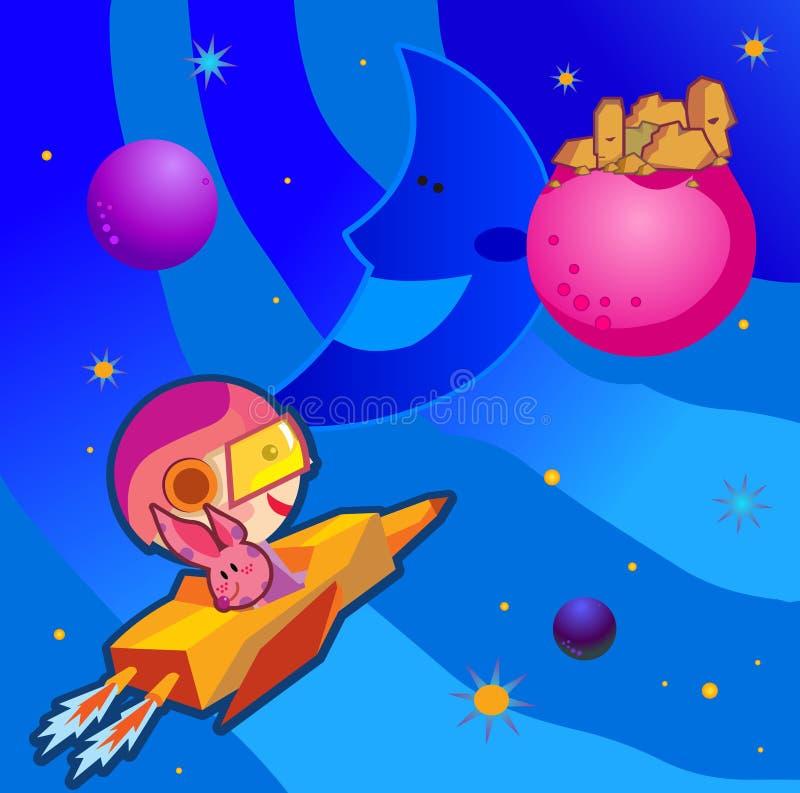 O espaço ilustração do vetor