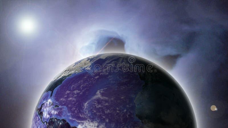 O espaço ilustração stock