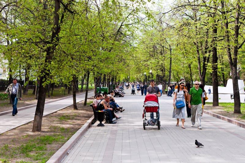 O espaço livre Ponds o bulevar (Chistoprudniy) em Moscovo fotografia de stock royalty free
