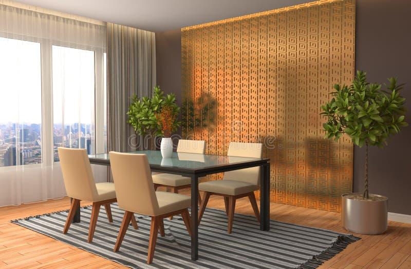 O espaço para refeições interior ilustração 3D ilustração royalty free