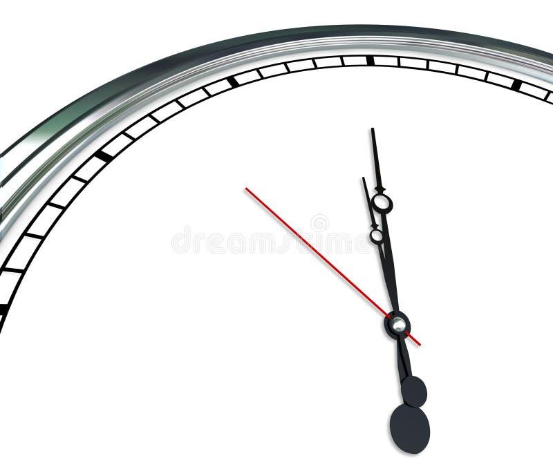 O espaço tempo vazio da cópia das mãos ornamentado brancas da face do relógio para seu Mes ilustração royalty free