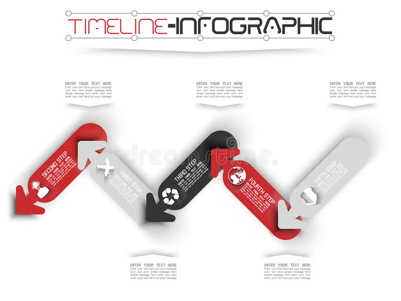 O espaço temporal de Infographic ilustração do vetor