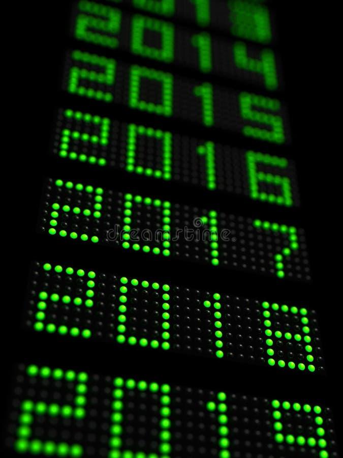 O espaço temporal 2018 do ano novo ilustração stock