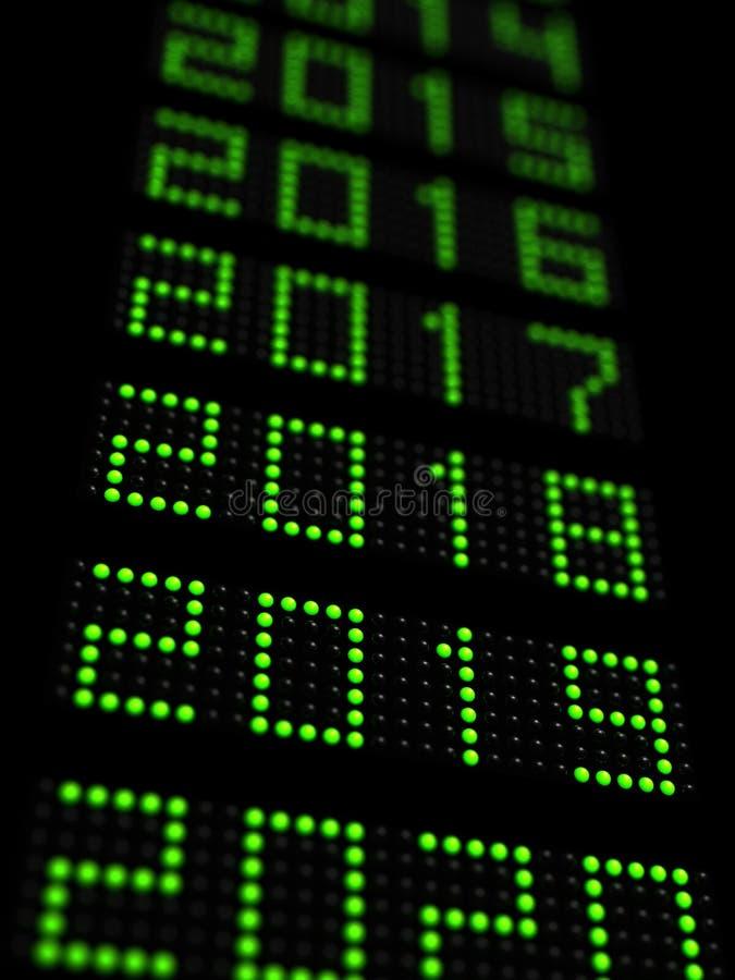 O espaço temporal 2019 do ano novo ilustração stock