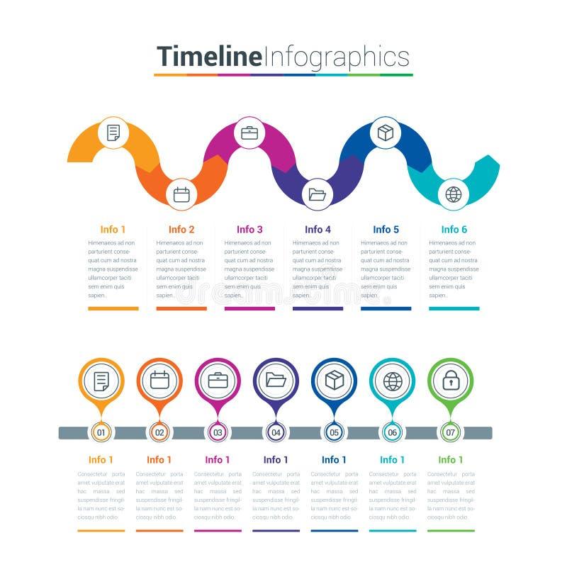 O espaço temporal limpo e colorido Infographics Criativo, infographic ilustração royalty free