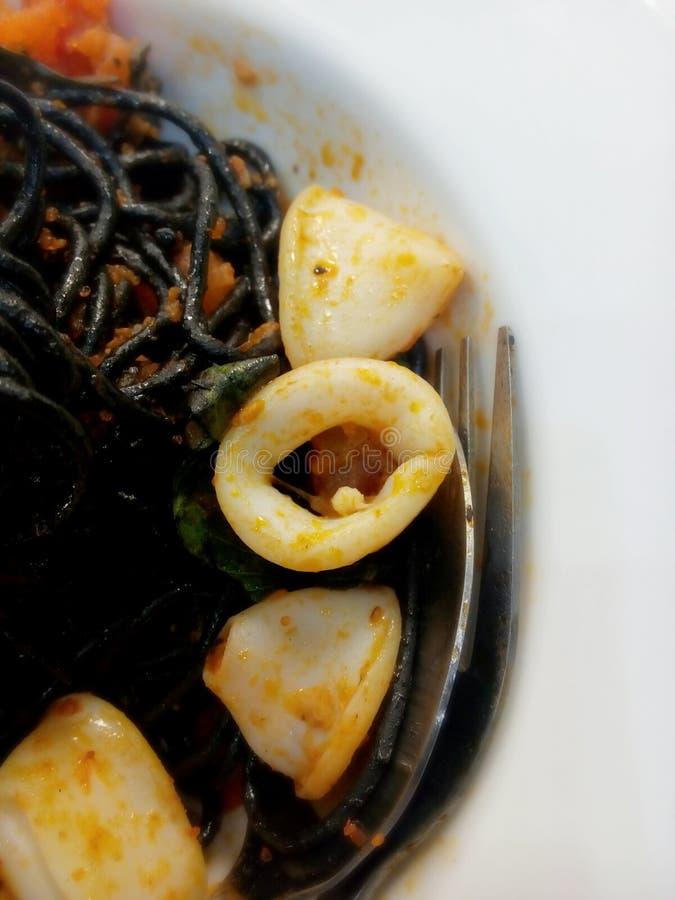 o espaguete encalha de tinta preta foto de stock royalty free