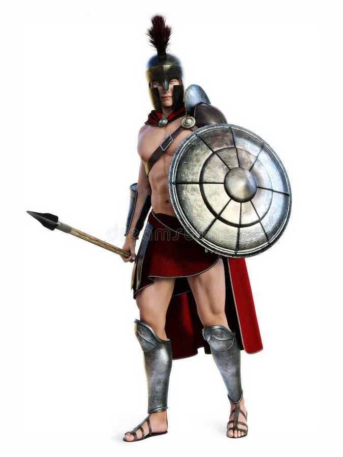 O espartano ilustração stock