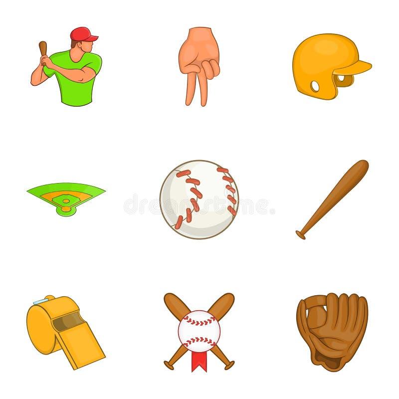 Download O Esporte Com ícones Do Bastão Ajustou-se, Estilo Dos Desenhos Animados Ilustração do Vetor - Ilustração de retrato, objeto: 80102183