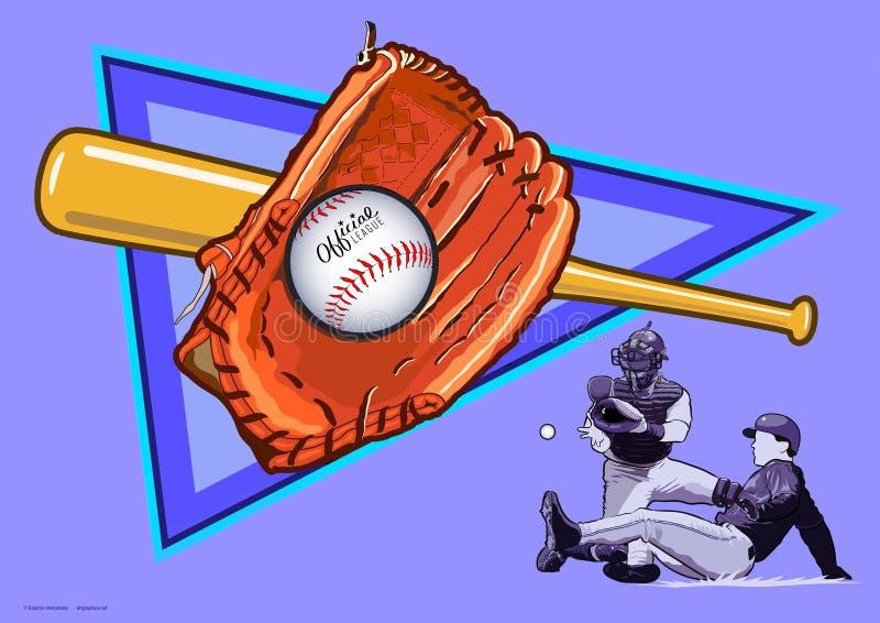 O esporte do basebol imagens de stock