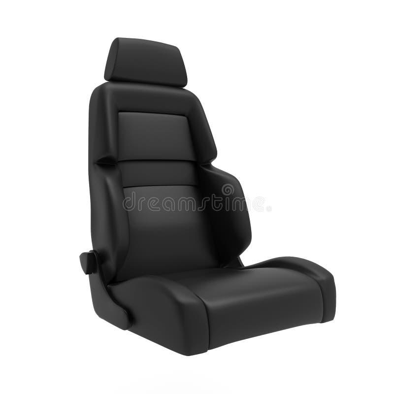 O esporte Seat 3d do carro rende isolado ilustração stock