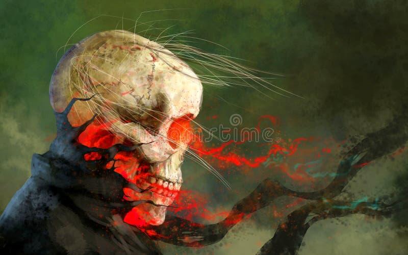 O esqueleto, o Dia das Bruxas ilustração stock