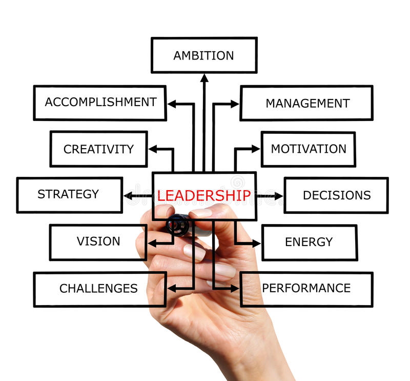 O esquema da liderança fotos de stock