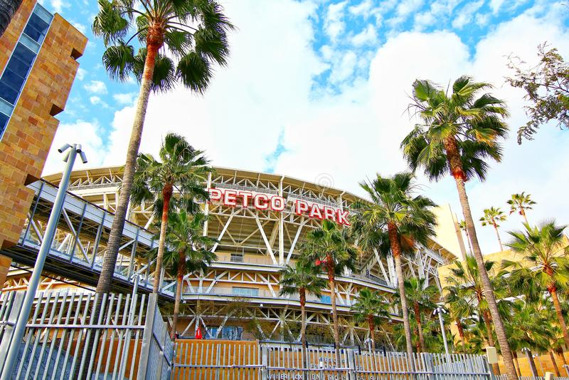 O estádio de basebol do parque de Petco foto de stock royalty free