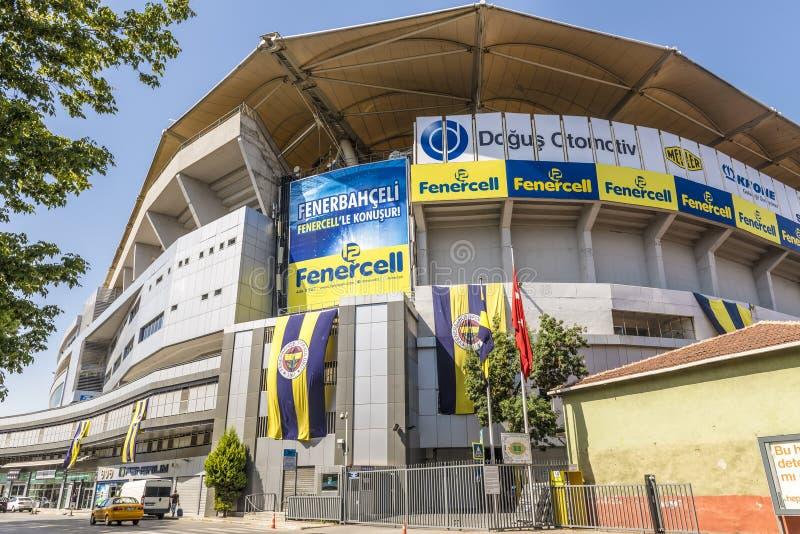 O estádio de futebol famoso Fenerbahce em Istambul foto de stock