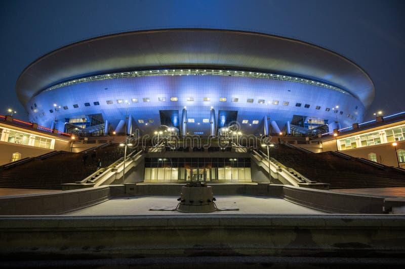 O estádio de futebol principal para o campeonato do mundo 2018 foto de stock