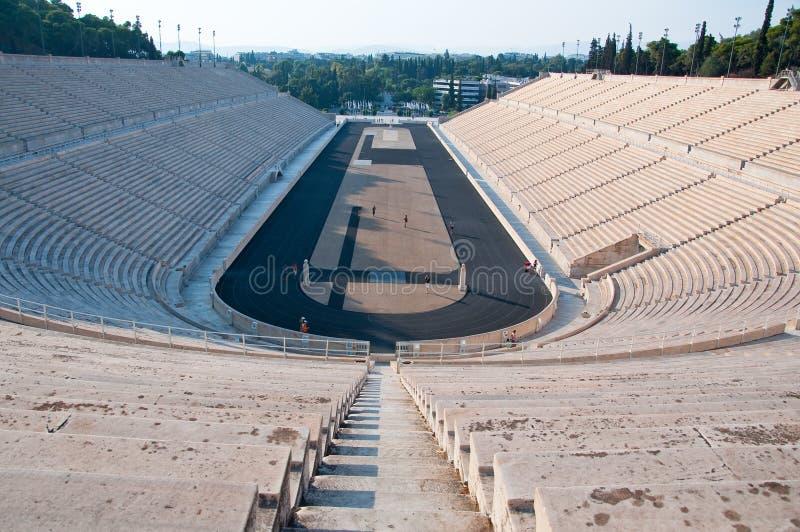 O estádio de Panathenaic o 1º de agosto de 2013 em Atenas, Grécia. fotos de stock royalty free