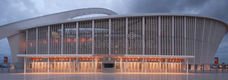 O estádio do futebol de Durban Moses Mabhida fotos de stock
