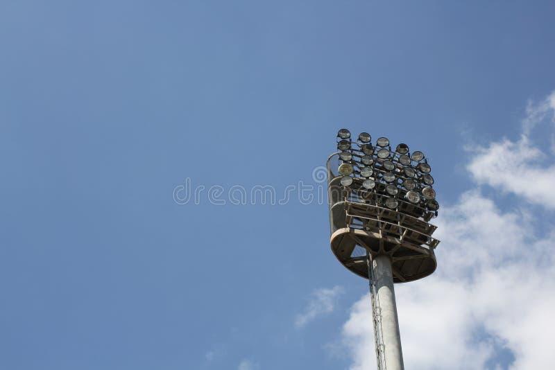 O estádio ilumina a nuvem imagens de stock