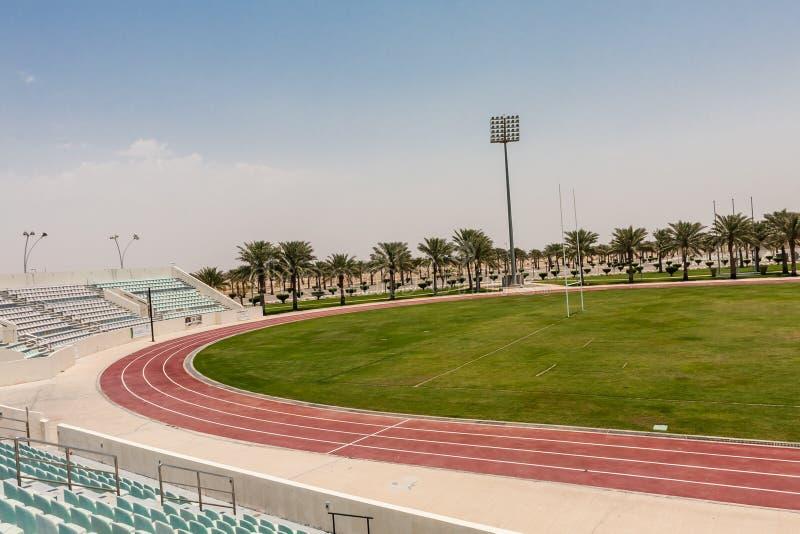 O estádio no terreno do rei Abdullah University da ciência e da tecnologia, Thuwal, Arábia Saudita fotografia de stock